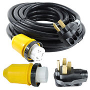 50 Foot 50 Amp Rv Extension Cord Twist Lock Power Supply Cable For Rv Trailer