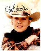 Pam Dawber Signed Autographed Cowgirl Photo