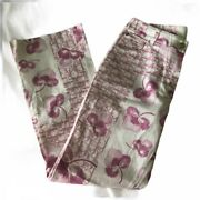 ✨authentic Rare Y2k Christian Dior Cherry Blossom Diorissimo Pink Cropped Pants