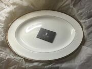 Waterford China Oval Serving Platter Catania Pattern New W/tags And Box