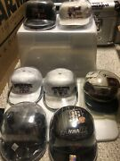 Chicago Bulls Championship Hat Collection 91-98 W/cases Complete. The Last Dance