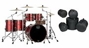 Mapex Saturn Evolution Workhorse Birch Tuscan Red Lacquer Drums   22/10/12/14/16