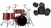 Mapex Saturn Evolution Workhorse Maple Tuscan Red Lacquer Drums   22/10/12/14/16