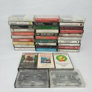 Lot Of 35 Christmas Cassette Tapes Beach Boys Snoopy Bing Crosby Classic Country