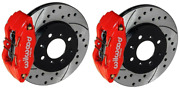 Wilwood Forged Front Brake Kit Drilled Rotors 1993-2000 Honda Civic Coupe