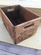 Moxie Wooden Crate Box Holds 24 7 Oz Pop Boston Mass Advertising Crate Vintage
