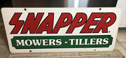 Vintage Snapper 42andrdquo X 18andrdquosign Mowers Tillers Advertising Double Sided Heavy Sign
