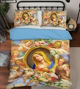 3d Our Lady Angel Zhua1696 Bed Pillowcases Quilt Duvet Cover Set Queen King Zoe
