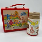 Vintage 1980and039s Aladdin Care Bears Plastic Lunch Box With Thermo No Lid