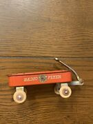 Vintage Red Radio Flyer Mini Miniature Steel Small Toy Wagon - 1930andrsquos