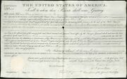 President Andrew Jackson Signed 1833 Land Office Deed Document