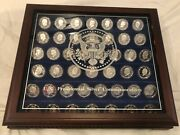 Danbury Mint Complete Us Presidential Silver Commemoratives 44 One Troy Ounce