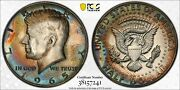 1965 Kennedy Half Dollar Pcgs Sp65 Sms Gorgeous Color Toned Bu Unc Silver Mr