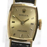 Rolex Antique Manual Winding Womenand039s K18yg Precision 2195 I31