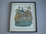 Original Mallard Duck Hunting Print Lithograph Picture Sloan Wade Collection
