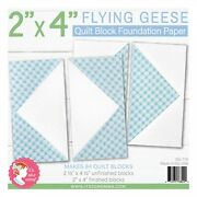 2 X 4 Flying Geese Quilt Foundation Paper Pad Includes Makes 84 It's Sew Emma