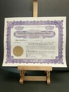 Vintage 1929 Certificate For Shares In Capitol Oil And Natural Gas Company Ps17
