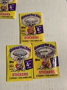 ☆ 3 Topps Garbage Pail Kids Series 4 Wax Packs Collection Sealed / Unopened ☆