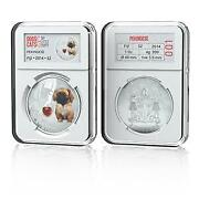 Fiji 2014 2 Dogs And Cats V My Little Puppy - Pekinese 1 Oz Silver Proof Coin