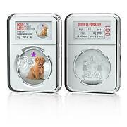 Fiji 2014 Dogs And Cats V My Great Protector - Dogue De Bordeaux Silver Proof Coin