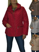 Plus Size Quilted Jacket Hood Lightweight Padding Coat 12-18
