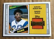 Eric Dickerson 2001 Topps Archives Anaheim Stadium Seat Relic Rams Ct1026