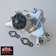Small Block Chevy Polished Aluminum Long Water Pump High Flow Lwp 327 350 400