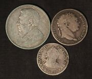 World Coin Variety Lot - Mexico, Great Britain And South Africa - Free Ship Us