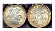 1892 25c-mint Luster And Nice Toning Braber Quarter ++