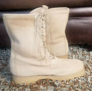 Wellco 08-d-1042 Desert Tan Suede Vibram Army Military Combat Boots Size 12w