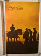 Vintage Poster Argentina Gauchos Postales Classic Icons South America Rare