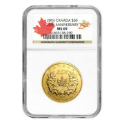 1 Oz Random Year Canadian Maple Leaf Ms-69 Gold Coin