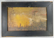 Antique American Wwi Tonalist Oil Painting On Canvas Theodore Scott Dabo