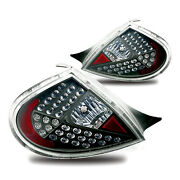 Winjet Altezza Led Tail Lights - Black/clear Lens - Fits 2000-2002 Dodge Neon