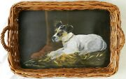 Jack Russell Terrier Hand-painted Wood Tray, Dog/puppy, Maira T Glover, 19x13