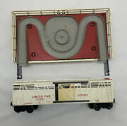 Post War Lionel 3366 Circus Car, Corral, And Horses