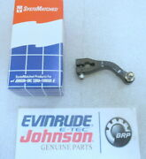 P23b Johnson Evinrude Omc 437687 Lever And Ball Assembly Oem New Factory Boat Part
