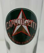Capital City Brewing Company Footed Beer Glass
