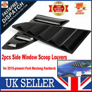 2pcs Rear Side Window Louver Scoop Cover Abs Fit For Ford Mustang 2015-2018 Uk