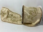 Katherineand039s Collection Cream And Gold Acanthus Leaf Ribbon 4 X 5 Yd