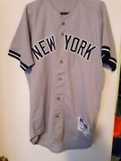 1992 Ny Yankees Jeff Johnson Away Game Used Jersey 49 Steiner Last To Wear 49