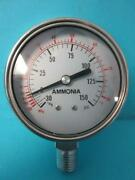 Lot Of 50 New Ammonia Pressure Gauge 2.5 Face 150 Psi 80° F Nh3 Hg .5 Connection