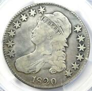1820 Capped Bust Half Dollar 50c With No Serifs On E's O-107 - Pcgs Fine Detail