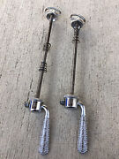 Vintage Campagnolo Skewers Campy Set Front And Rear Flat Blade