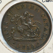 Canada 1850 1/2 Penny Horse Animal 296816 Combine Shipping