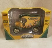 1998 Gearbox Crayola Coin Bank 1912 Ford 1 Series Htf Die-cast Collectible