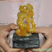 China Natural Tianghuang Shoushan Stone Hand Carved Animal Flower Bird Statue