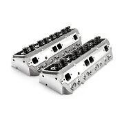 Chevy Sbc 350 205cc 64cc Angle Hydraulic Roller Assembled Cylinder Heads