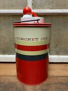 Vintage The Coronet Jug Insulated 1/2 Gallon Tumbler Glass Ball Jar Hot Cold Old