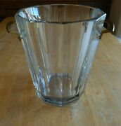 Baccarat Harmonie French Crystal Ice Bucket Champagne Cooler Beautiful Rare